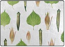 DEZIRO Fußmatte mit Gemüse-Hintergrund, für den