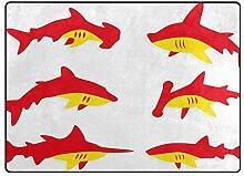 DEZIRO Fußmatte mit Haifischmotiv, für den