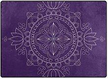 DEZIRO Fußmatte mit Lichtkreisen und abstraktem