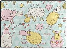 DEZIRO Fußmatte mit Lustigem Schaf, für den