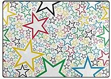 DEZIRO Fußmatte mit mehrfarbigen Sternen Muster