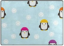 DEZIRO Fußmatte mit niedlichem Pinguin-Muster,