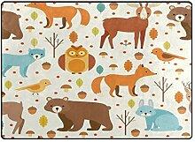 DEZIRO Fußmatte mit niedlichen Cartoon-Tieren,