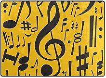 DEZIRO Fußmatte mit Notenmotiv, gelbes Muster,