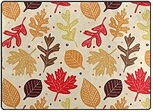 DEZIRO Fußmatte mit roten Herbstblättern, für