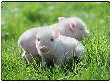DEZIRO Fußmatte mit Schweinchenmuster, für den