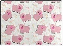DEZIRO Fußmatte mit süßem rosa Schweinchen für