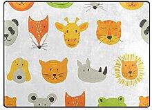 DEZIRO Fußmatte mit Tiergesichtern für den