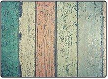 DEZIRO Fußmatte mit verwittertem Holzmuster, für