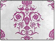 DEZIRO Fußmatte mit violettem Blumenmuster, für