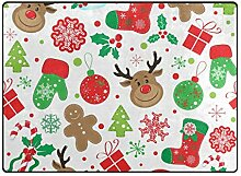 DEZIRO Fußmatte mit weihnachtlichem Muster für