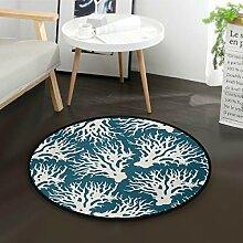 DEZIRO Fußmatte, rund, rutschfest, für Zuhause