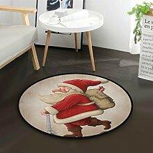 DEZIRO Fußmatte Santa Claus und der Push Roller,