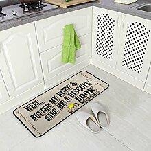 DEZIRO Fussmatte Teppich Anti-Rutsch-Fußmatten