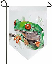 DEZIRO Garten-Flagge, bemalt, Nebelmotiv,