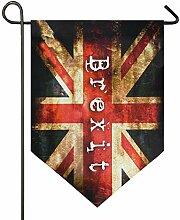 DEZIRO Garten-Flagge, Brexit, vertikal,
