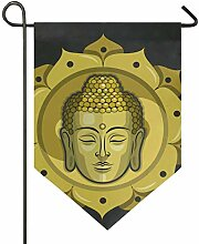 DEZIRO Garten-Flagge, Buddha, vertikal,