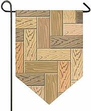 DEZIRO Garten-Flagge, Holzparkett, vertikal,