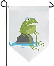 DEZIRO Garten-Flagge mit weinendem Frosch,