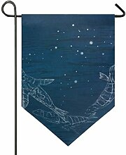 DEZIRO Garten-Flagge, modisches Design, vertikal,