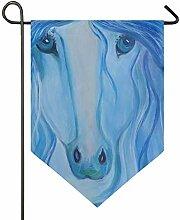 DEZIRO Garten-Flagge traurig, blaues