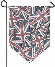 DEZIRO Garten-Flagge, vertikal, doppelseitig,