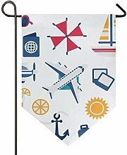DEZIRO Garten-Flagge, vertikal, doppelseitig, für