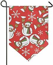 DEZIRO Garten-Flagge, Weihnachtsmotiv mit