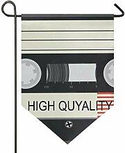 DEZIRO Garten-Flaggen-Audio-Kassetten mit