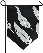 DEZIRO Garten-Flaggen-Set mit 6 Federn, vertikal,
