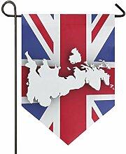 DEZIRO Garten-Flaggenkarte UK vertikal,