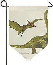 DEZIRO Gartenflagge Brontosaurus und Pterodactyl,