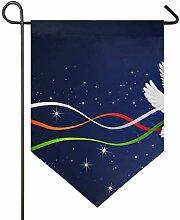 DEZIRO Gartenflagge Weihnachtstaube, vertikal,