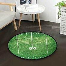 DEZIRO Grunge Fußmatte, rund, rutschfest, für