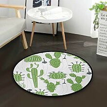 DEZIRO Kaktus-Pfeffer-Fliesen-Teppich, rund,