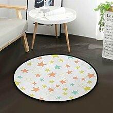 DEZIRO Lovely StarsRunde Fußmatte Teppich Teppich