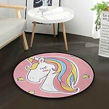 DEZIRO Loving UnicornRunde Fußmatte Teppich