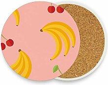 DEZIRO Mehrzweck-Tassenmatte, Kirsch- und