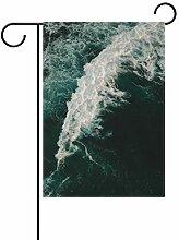DEZIRO Ozean Wasserhofflagge Garten-Flagge,