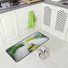 DEZIRO Pfauen-Fußmatte Teppich