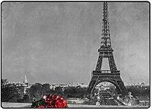 DEZIRO Rosen mit Eiffelturm Fußmatte für den