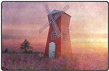 DEZIRO Schöne Windmühle Garten Fußmatten für