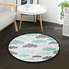 DEZIRO Süße Wolken Runde Fußmatte Teppich