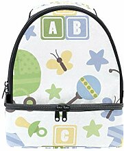 DEZIRO süßer Baby Kinderwagen Jumpsuit Lunchbag