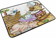DEZIRO Tür-Teppich/Fußmatte, Motiv: Granny mit