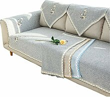 DFamily Plüsch Sofabezug L-förmig Sofaüberwurf
