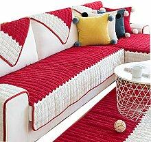 DFamily Plüsch Sofabezug Moderne Einfache Sofa