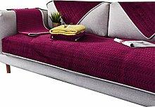 DFamily Plüsch Sofabezug Sofaüberwurf Verdicken