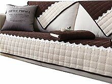 DFamily Plüsch Sofabezug Verdicken sie Sofa
