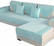 DFamily Plüsch Volltonfarbe Sofaüberwurf Schnitt